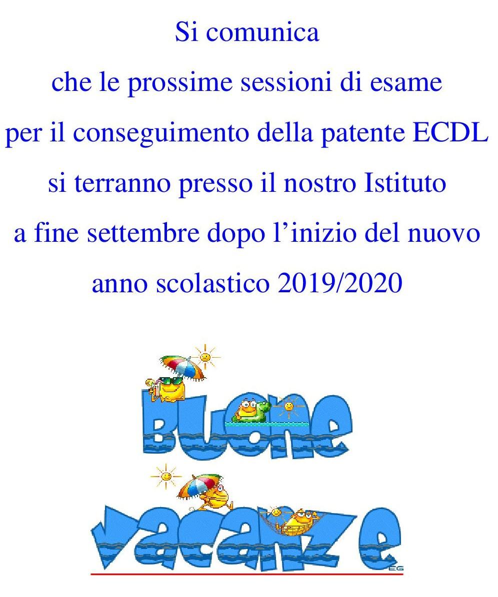 Calendario Esami Stato 2020.Collegio San Giuseppe Ecdl Patente Europea Del Computer